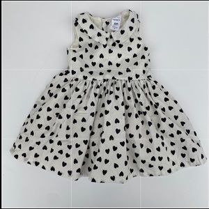 Baby girl white and black dress 6 month
